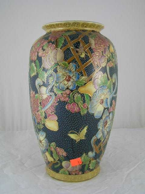 14: Contemporary Chinese Green Covered Ginger Vase