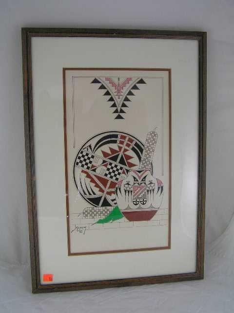 16: Vintage - SW Art Piece Signed Holbrook 1983 - 2
