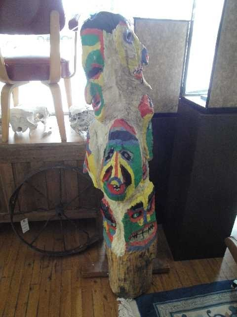 17: Vintage - Folk Art Carved Totem