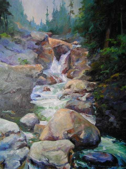 106: American Listed Artist - Bill Garrison - Oil on Ca