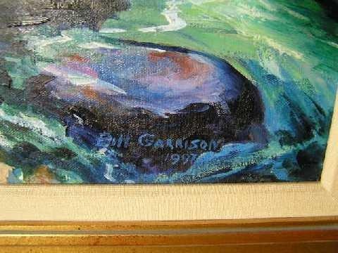 106: American Listed Artist - Bill Garrison - Oil on Ca - 3