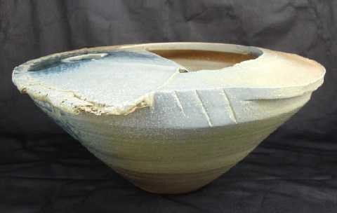 1: Contemporary Craig Easter Pottery Slab Vessel