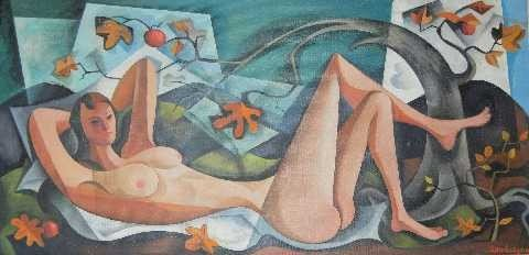 "150: William Sanderson - Colo Modernist - ""The Nude"""