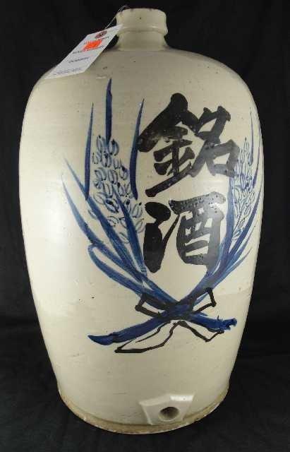 ANTIQUE JAPANESE STONEWARE JUG