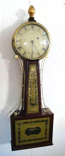 183B: FANTASTIC - EARLY AMERICAN WILLARD BANJO CLOCK