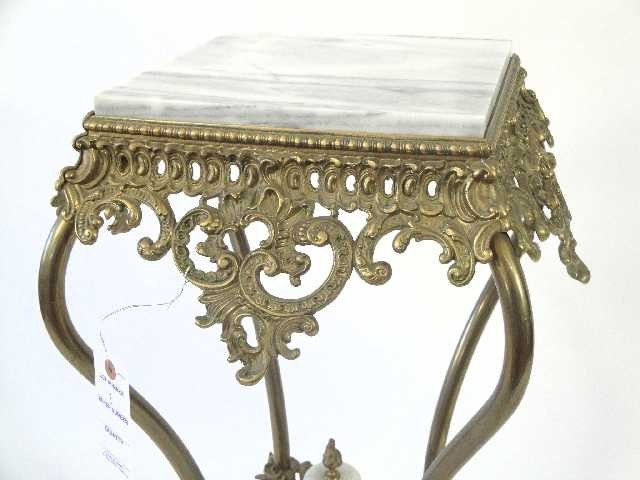 2: ANTIQUE VICTORIAN ORNATE PLANT STAND - 3