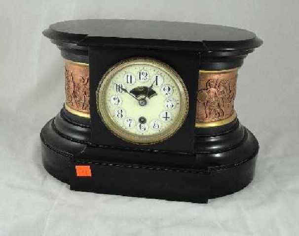 17: NEOCLASSIC BOSTON CLOCK COMPANY - BLACK MARBLE