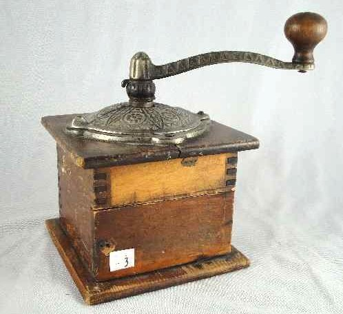3: EARLY AMERICAN COFFEE GRINDER