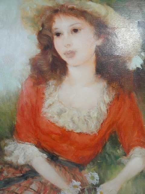 17: FRENCH IMPRESSIONISM - O/C PORTRAIT OF FRENCH GIRL