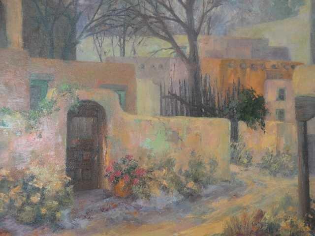 148: GEORGE BURROWS - NM ARTIST - OIL PAINTING - TAOS