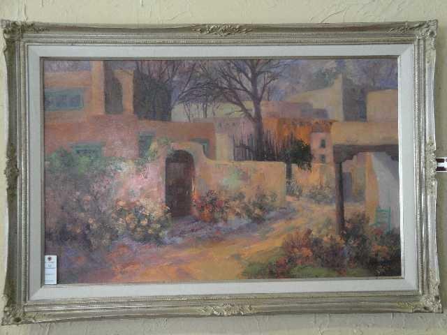 148: GEORGE BURROWS - NM ARTIST - OIL PAINTING - TAOS - 2