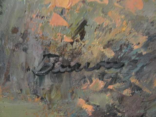 148: GEORGE BURROWS - NM ARTIST - OIL PAINTING - TAOS - 3