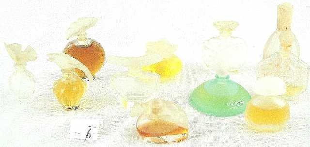 6: VTG LOT OF 11 MINI PERFUME BOTTLES