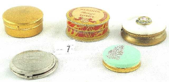 7: VTG LOT  OF 5 POWDER COMPACTS