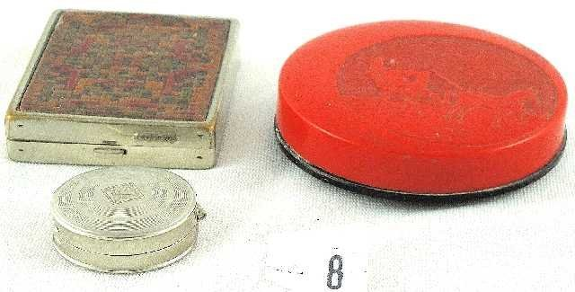 8: VTG LOT OF 3 COSMETIC COMPACTS