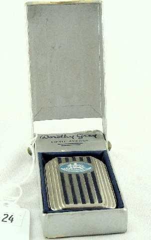 24: DECO DOROTHY GREY COMPACT IN ORIGINAL BOX