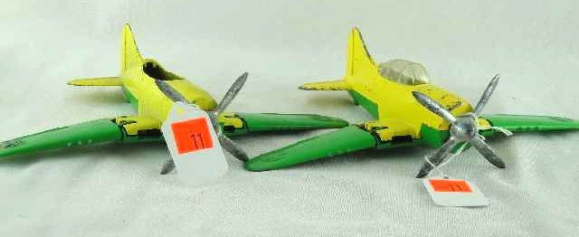 11: LOT OF 2 - HUBLEY FOLDING WING PLANES