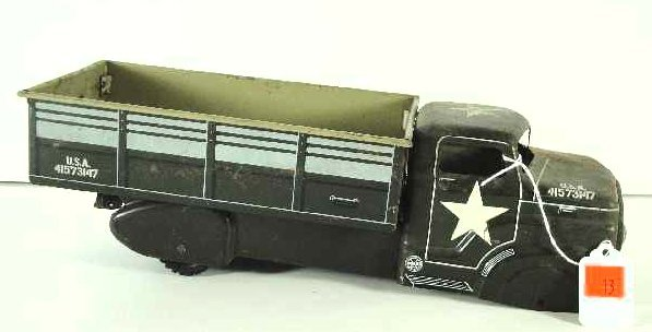 13: ANTIQUE MARX ARMY TRUCK