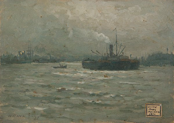 1: William Cave Day (1862-1924) On The Maas Rotterdam b