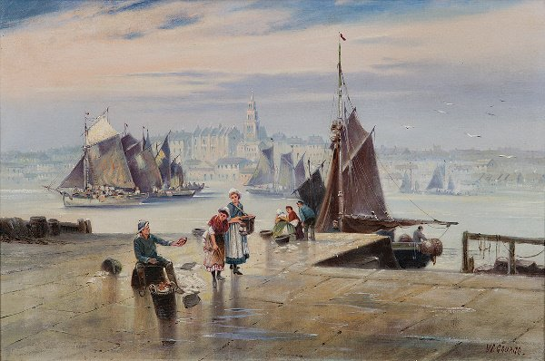 5: W M George (Exhibited 1907) Best crabs for sale Oil