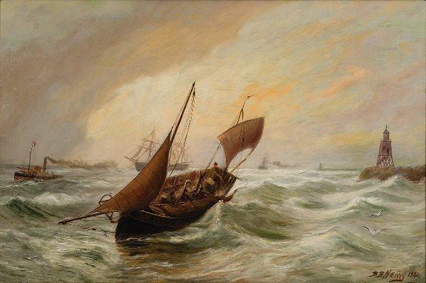 10: Bernard Benedict Hemy (fl:1875-1910) Shipping in ro