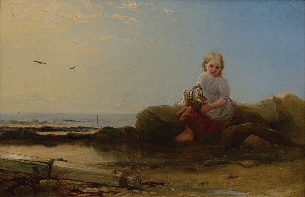12: Robinson Elliot (1814-1894) A young girl on the sho