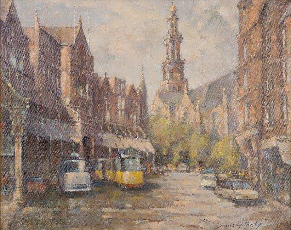 14: Donald Midgley (20th Century) A continental street