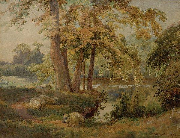 17: Charles Collins (Flourished 1867-1903) Sheep restin