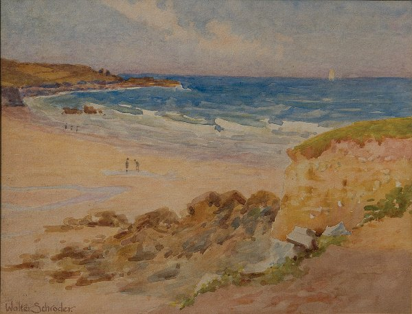 18: Walter Schroder (act1885-1932) A Cornish Cove Water