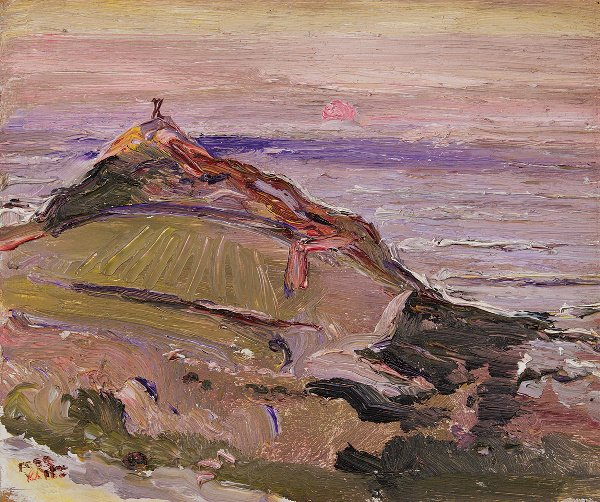66: Fred Yates (born 1922) The Cape Oil on board Signed