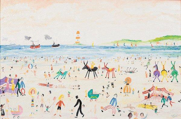 233: Simeon Stafford (born 1956) The Beach Oil on boar