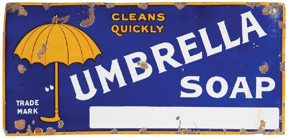 Umbrella Soap Porcelain Sign