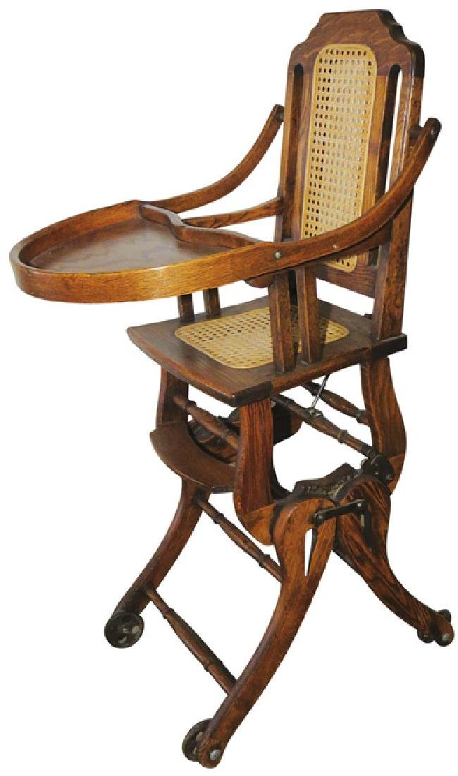 Bentwood Convertible High Chair