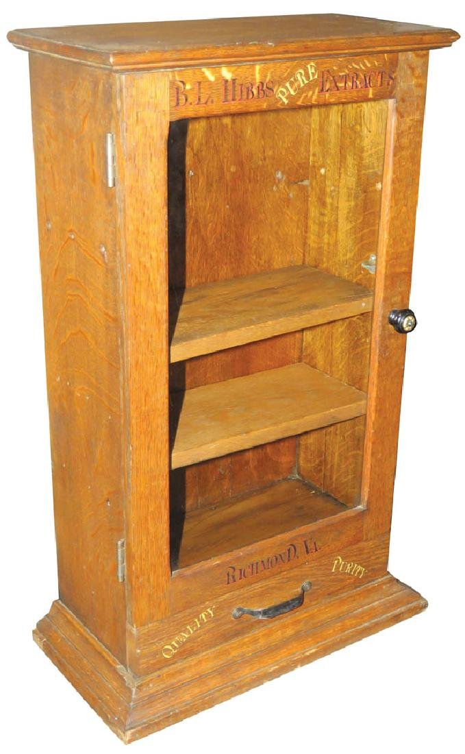 B.L. Hibbs Pure Extracts Oak Store Cabinet