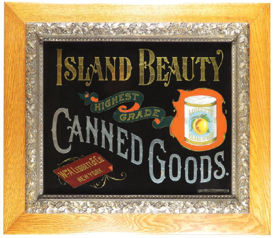 Island Beauty Canned Goods Sign