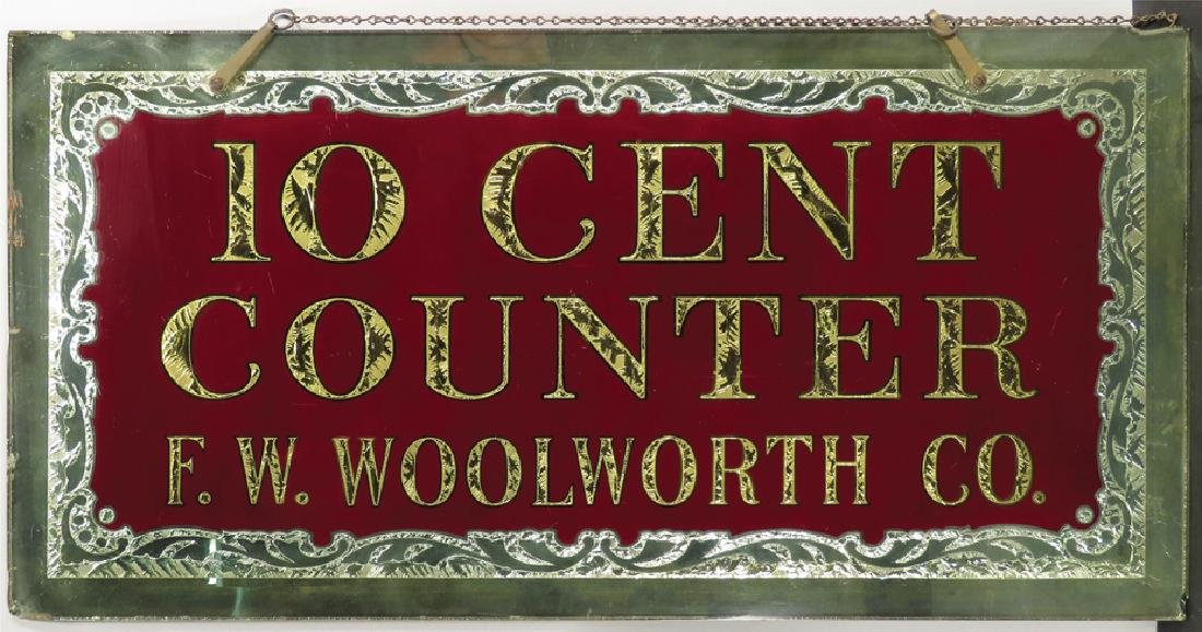 10 Cent Counter F.W. Woolworth Co. Sign