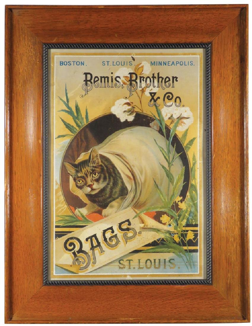 Bemis Brother & Co. Bags Tin Sign