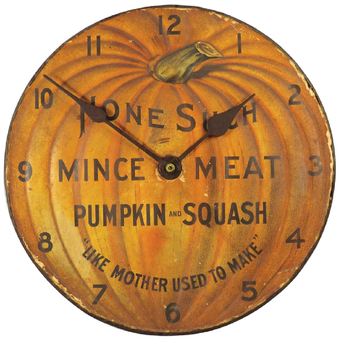 None Such Mince Meat Pie Tin Clock