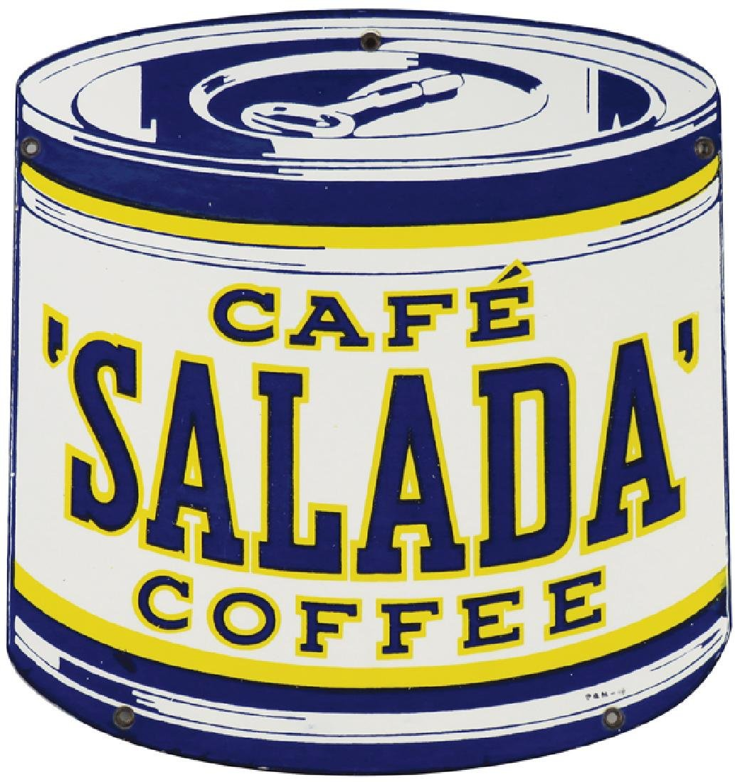 Salada Coffee Porcelain Sign