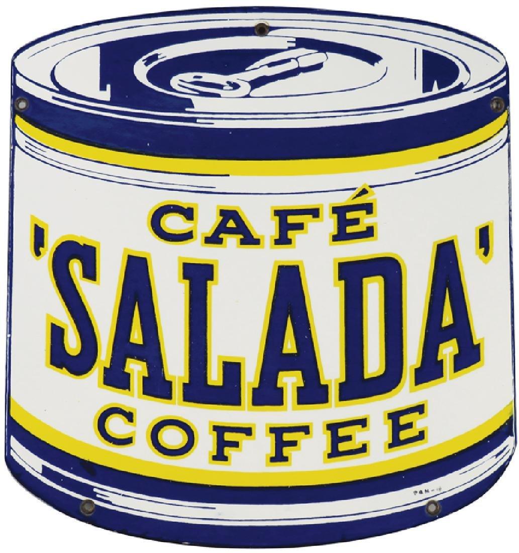Salada Coffee Porcelain Sign