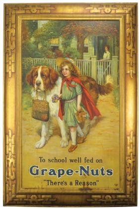 Grape-nuts Self Framed Tin Sign