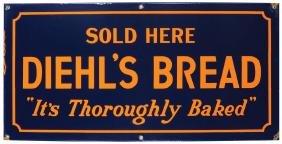 Diehl's Bread Porcelain Sign