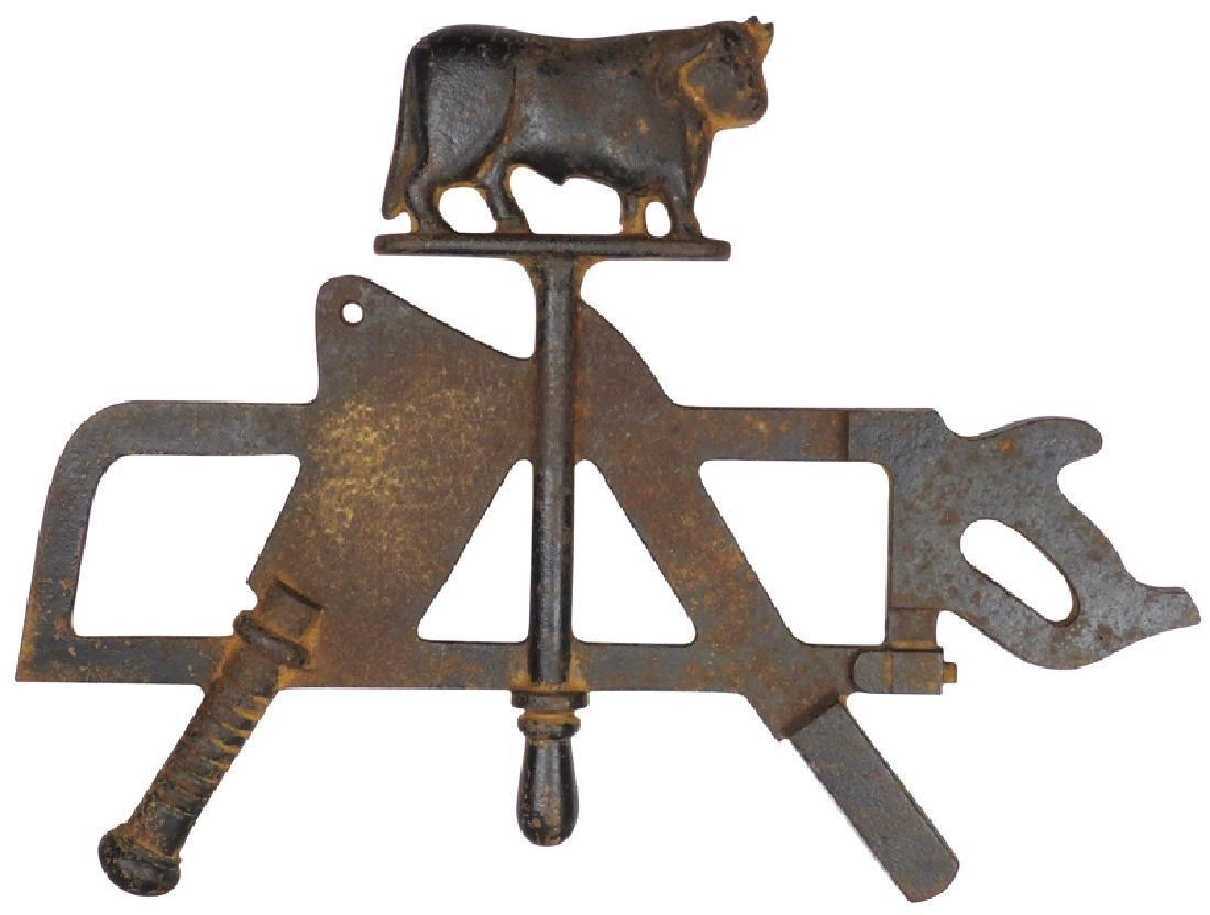 Cast Iron Bull Meat Rack Topper