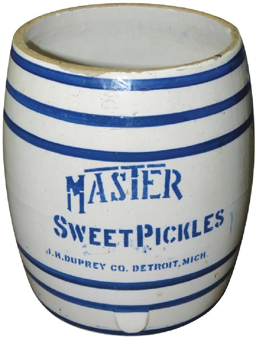 Master Sweet Pickle Crock Duprey Co. Detroit
