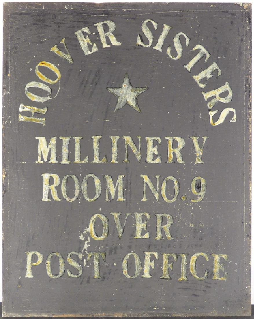 Hoover Sisters Milinery Tin Sign