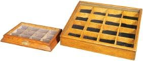 Two Collar Button Display Cases
