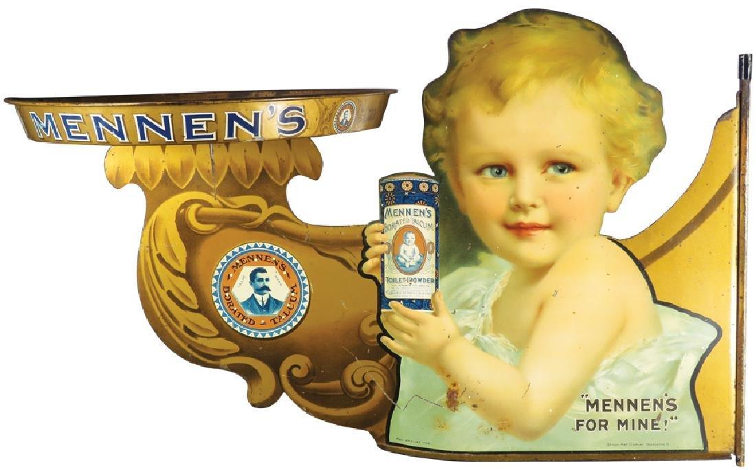 Mennen's Borated Talcum Die Cut Tin Sign