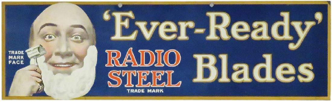 Ever-Ready Radio Steel Blades Tin Sign