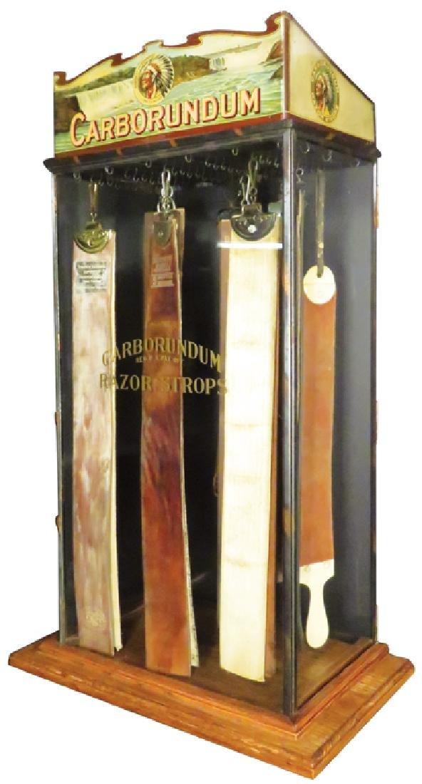 Carborundum Razor Strop Display Case