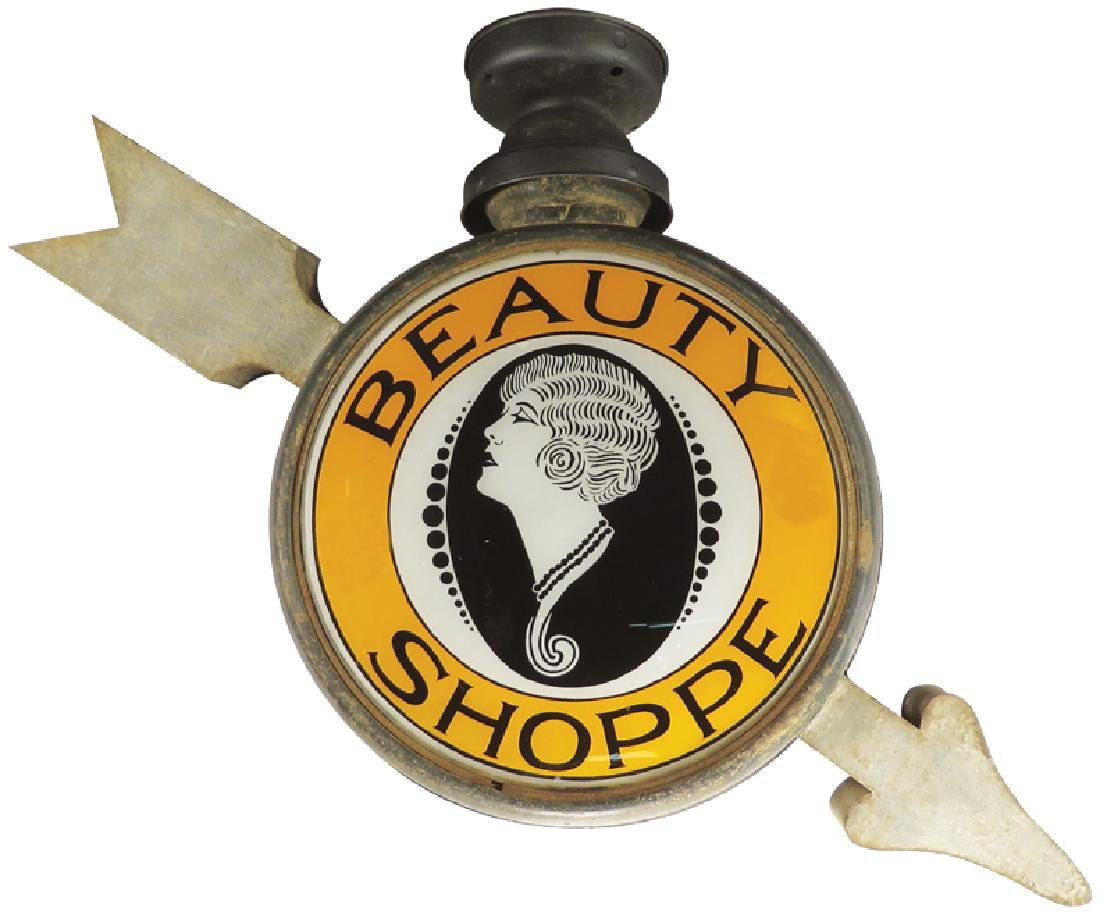 Beauty Shoppe Light Up Directional Can Sign - 2